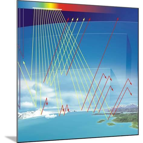 Earth's Atmosphere And Solar Radiation-Jose Antonio-Mounted Photographic Print
