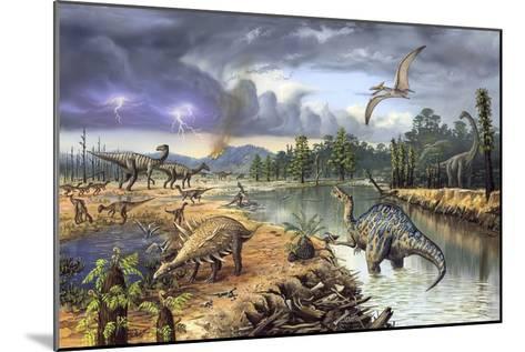 Early Cretaceous Life, Artwork-Richard Bizley-Mounted Photographic Print
