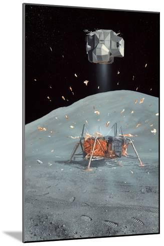 Apollo 17 Ascent Stage, Artwork-Richard Bizley-Mounted Photographic Print