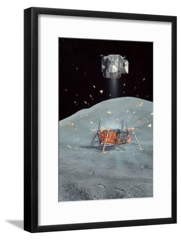 Apollo 17 Ascent Stage, Artwork-Richard Bizley-Framed Art Print
