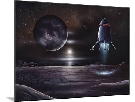 Manned Mission To Charon, Artwork-Richard Bizley-Mounted Photographic Print
