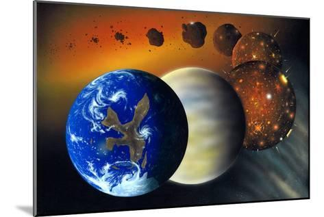 Formation of the Earth, Artwork-Richard Bizley-Mounted Photographic Print