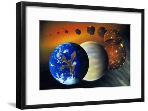 Formation of the Earth, Artwork-Richard Bizley-Framed Art Print