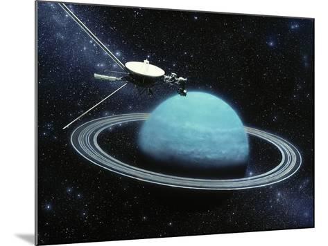 Artwork Showing Voyager 2's Encounter with Uranus-Julian Baum-Mounted Photographic Print