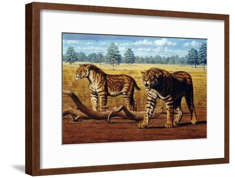 Sabre-toothed Cats, Artwork-Mauricio Anton-Framed Art Print