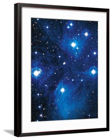 Pleiades Star Cluster-Slawik Birkle-Framed Art Print