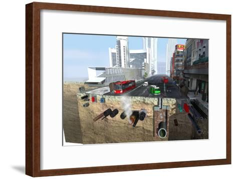 Utility Pipes, Artwork-Jose Antonio-Framed Art Print