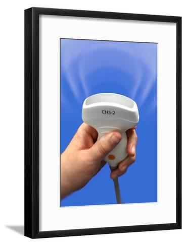 Ultrasound Transducer, Composite Image-Doncaster and Bassetlaw-Framed Art Print