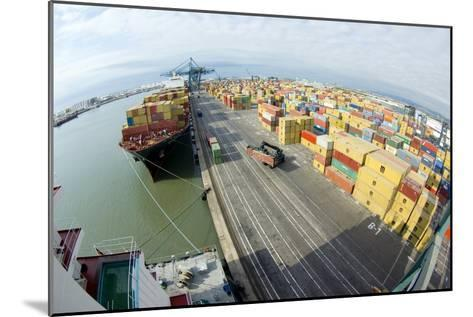Container Ship And Port-Dr. Juerg Alean-Mounted Photographic Print