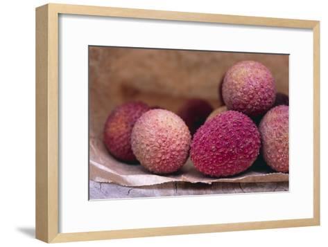 Lychee Fruit-Maxine Adcock-Framed Art Print