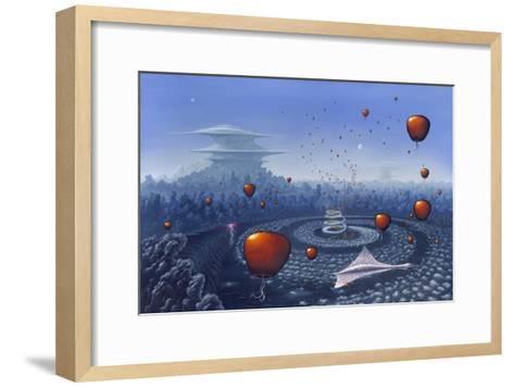 Alien Life Forms, Artwork-Richard Bizley-Framed Art Print