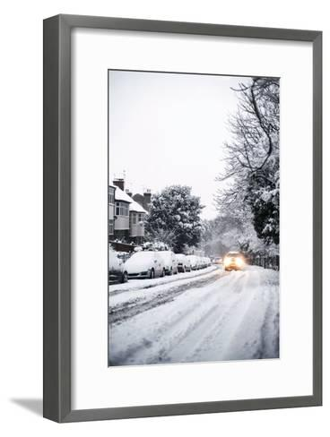 Snow-covered Road-Ian Boddy-Framed Art Print