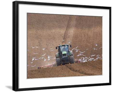 Sowing a Cereal Crop In Mid March-Adrian Bicker-Framed Art Print
