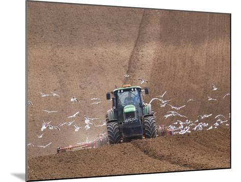 Sowing a Cereal Crop In Mid March-Adrian Bicker-Mounted Photographic Print