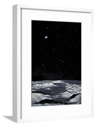 Apollo 17 Landing Site on Moon-Chris Butler-Framed Art Print