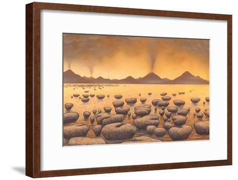 Early Stromatolites, Artwork-Richard Bizley-Framed Art Print
