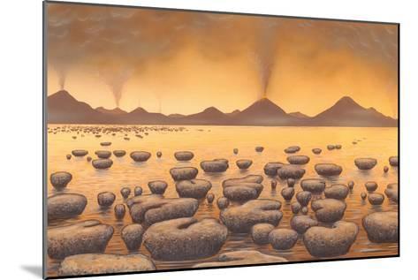 Early Stromatolites, Artwork-Richard Bizley-Mounted Photographic Print