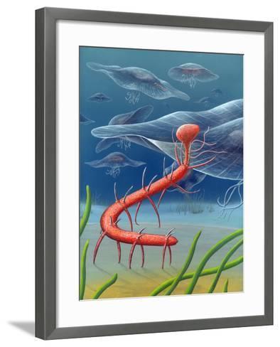 Cambrian Invertebrate, Artwork-Richard Bizley-Framed Art Print