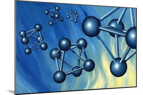 Octahedral Molecular Models, Artwork-Richard Bizley-Mounted Photographic Print
