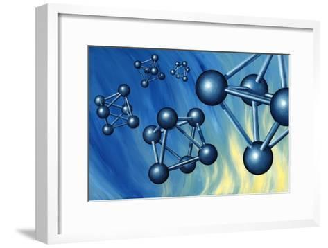 Octahedral Molecular Models, Artwork-Richard Bizley-Framed Art Print