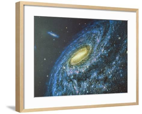 Artwork of the Milky Way Viewed From Outside-Chris Butler-Framed Art Print