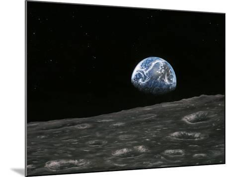 Earthrise Photograph, Artwork-Richard Bizley-Mounted Photographic Print