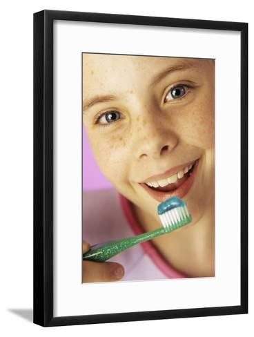 Brushing Teeth-Ian Boddy-Framed Art Print