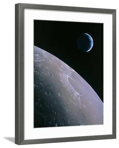 Illustration of Earthrise Seen From Lunar Orbit-Chris Butler-Framed Art Print