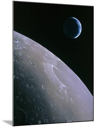 Illustration of Earthrise Seen From Lunar Orbit-Chris Butler-Mounted Photographic Print