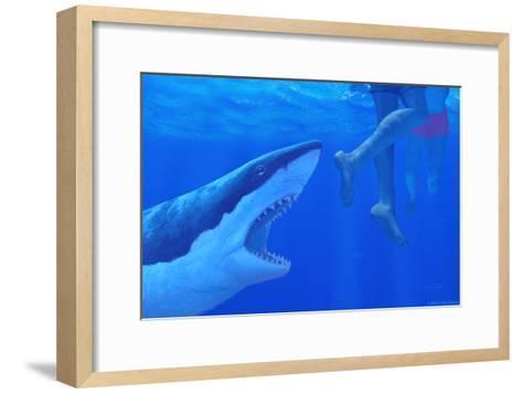 Shark Attack-Chris Butler-Framed Art Print