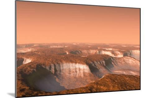 Carbon Dioxide Ice on Mars, Artwork-Chris Butler-Mounted Photographic Print