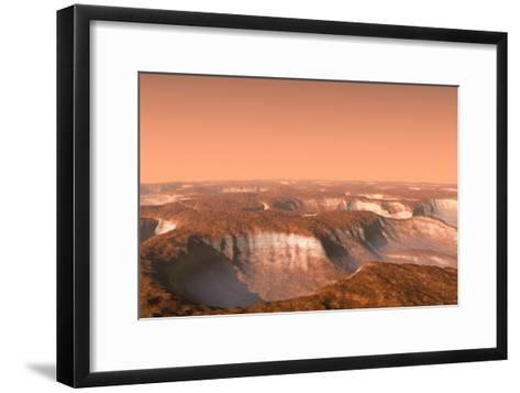 Carbon Dioxide Ice on Mars, Artwork-Chris Butler-Framed Art Print
