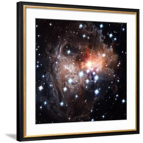 Light Echoes Around Star V838 Monocerotis-H. Bond-Framed Art Print