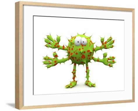 Germ, Conceptual Computer Artwork-Robert Brocksmith-Framed Art Print