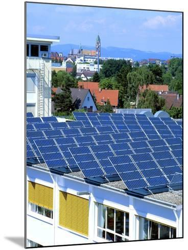 Rooftop Solar Panels, Germany-Martin Bond-Mounted Photographic Print