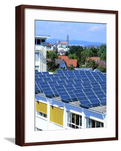 Rooftop Solar Panels, Germany-Martin Bond-Framed Art Print