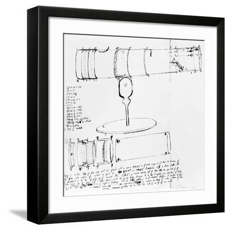 Newton's Telescope, Historical Artwork-Library of Congress-Framed Art Print