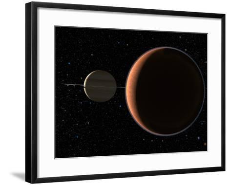 Saturn's Moon Titan-Chris Butler-Framed Art Print