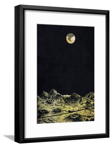 Earth From Moon-Science, Industry and Business Library-Framed Art Print