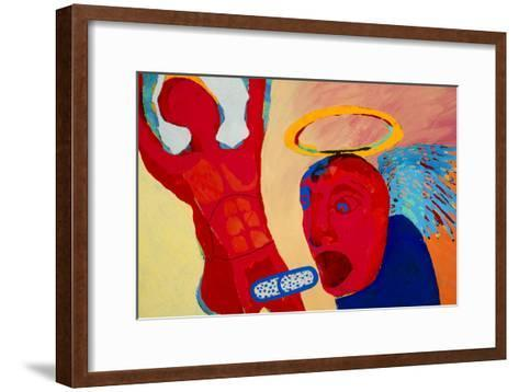 Artwork Depicting the Effects of the Drug Ecstasy-Paul Brown-Framed Art Print
