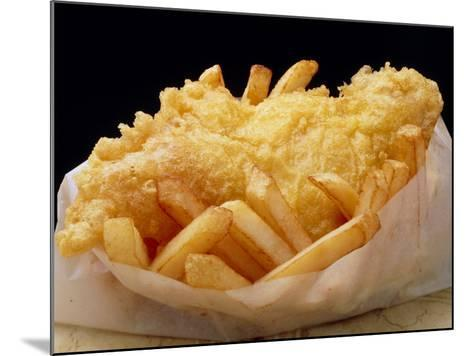 Close Up of Fried Fish & Chips-Tony Craddock-Mounted Photographic Print