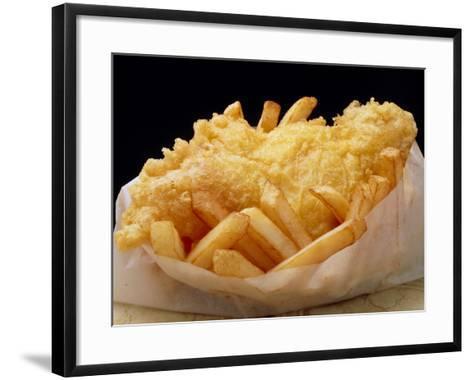 Close Up of Fried Fish & Chips-Tony Craddock-Framed Art Print