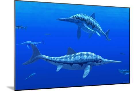 Ichthyosaur Marine Reptiles-Chris Butler-Mounted Photographic Print