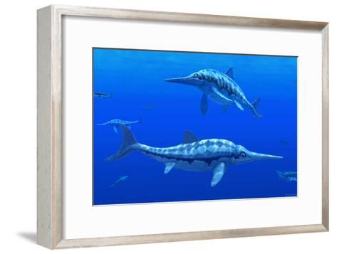 Ichthyosaur Marine Reptiles-Chris Butler-Framed Art Print