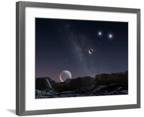 View From An Alien Planet, Artwork-Chris Butler-Framed Art Print