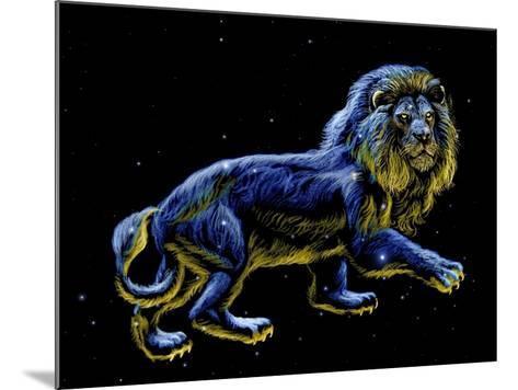 Constellation of Leo, Artwork-Chris Butler-Mounted Photographic Print