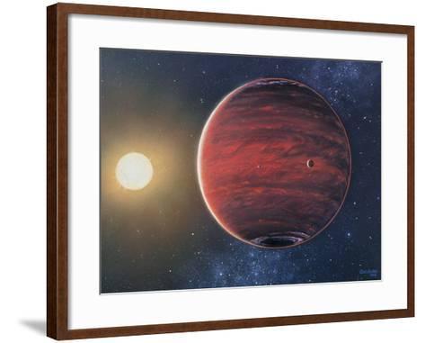 Artwork Depicting the Planet 51 Pegasi B & Its Sun-Chris Butler-Framed Art Print