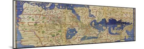 Al-Idrisi's World Map, 1154-Library of Congress-Mounted Photographic Print