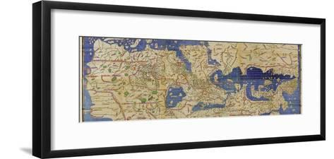 Al-Idrisi's World Map, 1154-Library of Congress-Framed Art Print