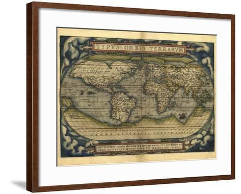 Ortelius's World Map, 1570-Library of Congress-Framed Art Print